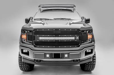 2018-2019 Ford F-150 Lariat, Limited Front Bumper Center LED Kit, Incl. (2) 3 Inch LED Pod Lights - PN #Z325711-KIT - Image 5
