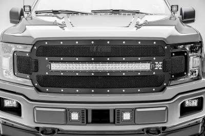 2018-2019 Ford F-150 Lariat, Limited Front Bumper Center LED Kit, Incl. (2) 3 Inch LED Pod Lights - PN #Z325711-KIT - Image 6