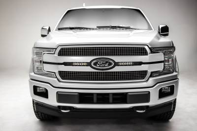 ZROADZ                                             - 2018-2020 Ford F-150 Platinum OEM Grille LED Kit with (2) 6 Inch LED Straight Single Row Slim Light Bars - PN# Z415581-KIT - Image 4