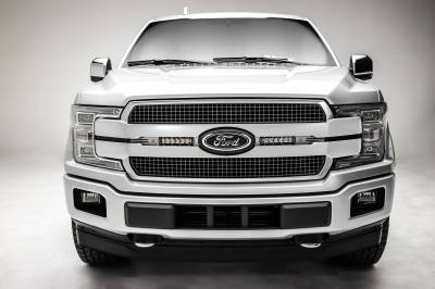 ZROADZ                                             - 2018-2020 Ford F-150 Platinum OEM Grille LED Kit, Incl. (2) 6 Inch LED Straight Single Row Slim Light Bars - PN# Z415583-KIT - Image 4