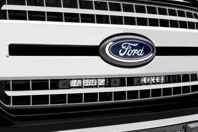 ZROADZ                                             - 2018-2020 Ford F-150 XLT, Lariat OEM Grille LED Kit with (2) 6 Inch LED Straight Single Row Slim Light Bars - PN #Z415711-KIT - Image 2