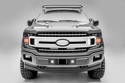 ZROADZ                                             - 2018-2020 Ford F-150 XLT, Lariat OEM Grille LED Kit with (2) 6 Inch LED Straight Single Row Slim Light Bars - PN #Z415711-KIT - Image 3