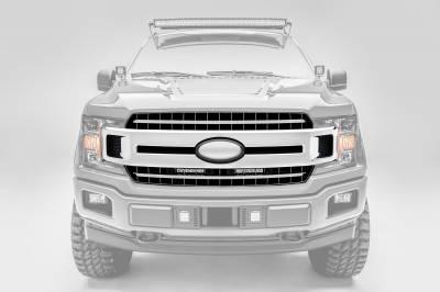 ZROADZ                                             - 2018-2020 Ford F-150 XLT, Lariat OEM Grille LED Kit with (2) 6 Inch LED Straight Single Row Slim Light Bars - PN #Z415711-KIT - Image 4