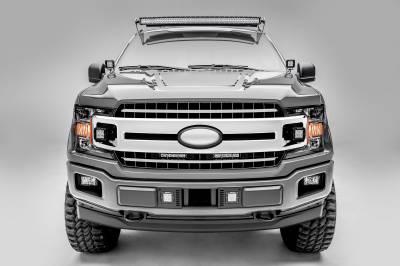 ZROADZ                                             - 2018-2020 Ford F-150 XLT, Lariat OEM Grille LED Kit with (2) 6 Inch LED Straight Single Row Slim Light Bars - PN #Z415711-KIT - Image 5