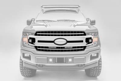ZROADZ                                             - 2018-2020 Ford F-150 XLT, Lariat OEM Grille LED Kit with (2) 6 Inch LED Straight Single Row Slim Light Bars - PN #Z415711-KIT - Image 6
