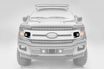 ZROADZ                                             - 2018-2020 Ford F-150 XLT, Sport, Super Crew OEM Grille LED Kit with (2) 3 Inch LED Pod Lights - PN# Z415751-KIT - Image 1