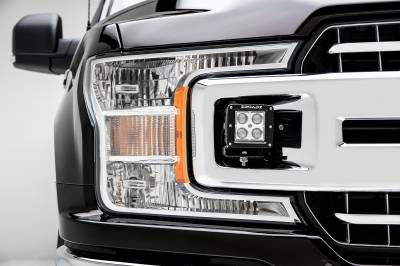 ZROADZ                                             - 2018-2019 Ford F-150 XLT, Sport, Super Crew OEM Grille LED Kit, Incl. (2) 3 Inch LED Pod Lights - PN #Z415751-KIT - Image 3