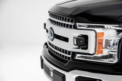 ZROADZ                                             - 2018-2019 Ford F-150 XLT, Sport, Super Crew OEM Grille LED Kit, Incl. (2) 3 Inch LED Pod Lights - PN #Z415751-KIT - Image 4