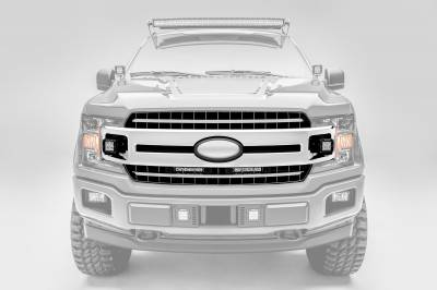 ZROADZ                                             - 2018-2019 Ford F-150 XLT, Sport, Super Crew OEM Grille LED Kit, Incl. (2) 3 Inch LED Pod Lights - PN #Z415751-KIT - Image 7