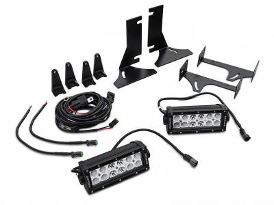 ZROADZ                                             - 2015-2017 Ford F-150 Rear Bumper LED Kit, Incl. (2) 6 Inch LED Straight Double Row Light Bars - PN #Z385731-KIT - Image 3