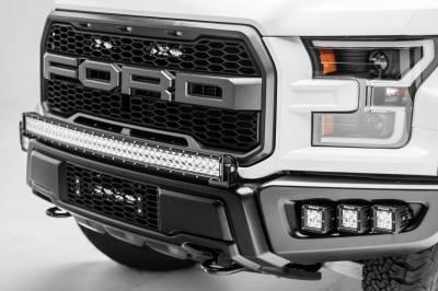 2017-2019 Ford F-150 Raptor Front Bumper OEM Fog LED Kit, Incl. (6) 3 Inch LED Pod Lights - PN #Z325652-KIT - Image 8