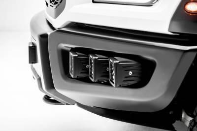 ZROADZ                                             - 2017-2019 Ford F-150 Raptor Front Bumper OEM Fog LED Kit, Incl. (6) 3 Inch LED Pod Lights - PN #Z325652-KIT - Image 10