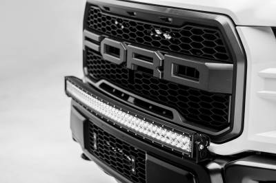 2017-2019 Ford F-150 Raptor Front Bumper Top LED Kit, Incl. (1) 40 Inch LED Curved Double Row Light Bar - PN #Z325662-KIT - Image 1