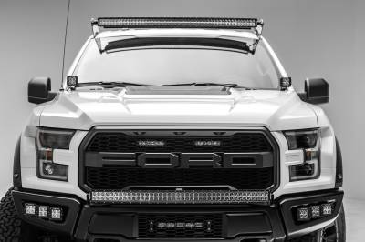 2017-2019 Ford F-150 Raptor Front Bumper Top LED Kit, Incl. (1) 40 Inch LED Curved Double Row Light Bar - PN #Z325662-KIT - Image 5