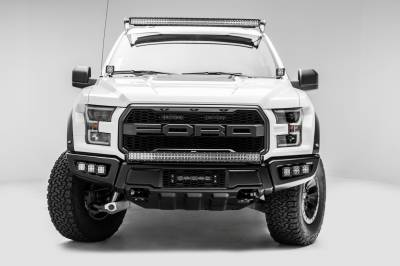 2017-2019 Ford F-150 Raptor Front Bumper Top LED Kit, Incl. (1) 40 Inch LED Curved Double Row Light Bar - PN #Z325662-KIT - Image 6