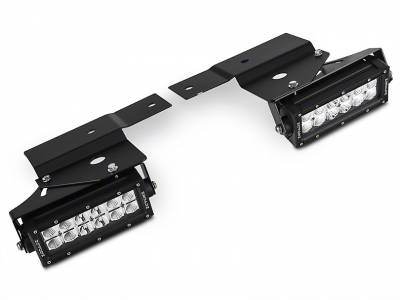 ZROADZ                                             - 2010-2014 Ford F-150 Raptor Front Bumper OEM Fog LED Kit, Incl. (2) 6 Inch LED Straight Double Row Light Bars - PN #Z325651-KIT - Image 5