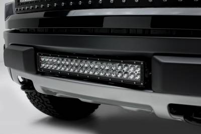 ZROADZ                                             - 2010-2014 Ford F-150 Raptor Front Bumper Center LED Kit, Incl. (1) 20 Inch LED Straight Double Row Light Bar - PN #Z325661-KIT - Image 1