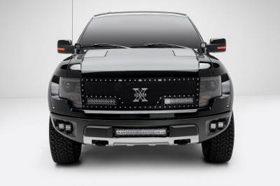 ZROADZ                                             - 2010-2014 Ford F-150 Raptor Front Bumper OEM Fog LED Kit with (4) 3 Inch LED Pod Lights - PN #Z325671-KIT - Image 4