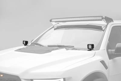 ZROADZ                                             - 2017-2019 Ford F-150 Raptor Hood Hinge LED Bracket to mount (2) 3 Inch LED Pod Lights - PN #Z365701 - Image 1