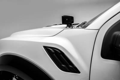 ZROADZ                                             - 2017-2019 Ford F-150 Raptor Hood Hinge LED Bracket to mount (2) 3 Inch LED Pod Lights - PN #Z365701 - Image 7