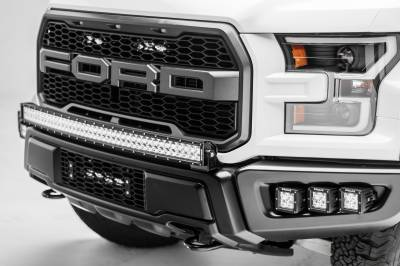 ZROADZ                                             - 2017-2021 Ford F-150 Raptor OEM Grille LED Kit with (2) 6 Inch LED Straight Single Row Slim Light Bars - PN #Z415651-KIT - Image 4
