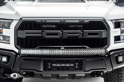 2017-2019 Ford F-150 Raptor OEM Grille LED Kit, Incl. (2) 6 Inch LED Straight Single Row Slim Light Bars - PN #Z415651-KIT - Image 6