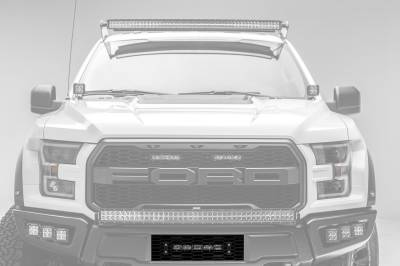 ZROADZ                                             - 2017-2019 Ford F-150 Raptor OEM Bumper Grille LED Kit, Incl. (1) 10 Inch LED Single Row Slim Light Bar - PN #Z415661-KIT - Image 1