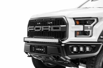 ZROADZ                                             - 2017-2019 Ford F-150 Raptor OEM Bumper Grille LED Kit, Incl. (1) 10 Inch LED Single Row Slim Light Bar - PN #Z415661-KIT - Image 2