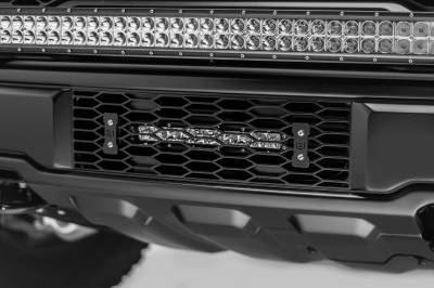 ZROADZ                                             - 2017-2019 Ford F-150 Raptor OEM Bumper Grille LED Kit, Incl. (1) 10 Inch LED Single Row Slim Light Bar - PN #Z415661-KIT - Image 4