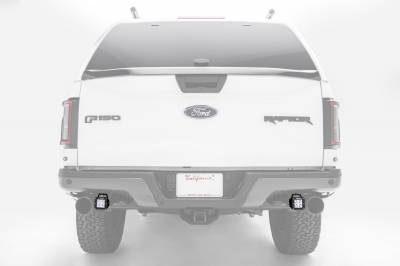ZROADZ                                             - 2017-2021 Ford F-150 Raptor Rear Bumper LED Kit with (2) 3 Inch LED Pod Lights - PN #Z385651-KIT - Image 1