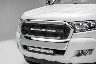 2015-2018 Ford Ranger T6 Front Bumper Center LED Kit, Incl. (1) 20 Inch LED Straight Double Row Light Bar - PN #Z325761-KIT - Image 1