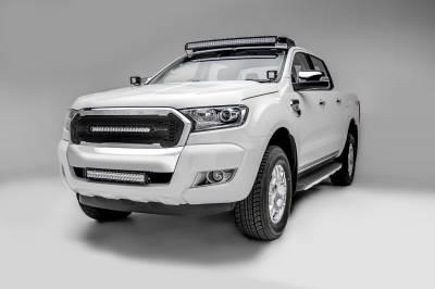 2015-2018 Ford Ranger T6 Front Bumper Center LED Kit, Incl. (1) 20 Inch LED Straight Double Row Light Bar - PN #Z325761-KIT - Image 2