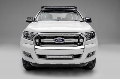 2015-2018 Ford Ranger T6 Front Bumper Center LED Kit, Incl. (1) 20 Inch LED Straight Double Row Light Bar - PN #Z325761-KIT - Image 3