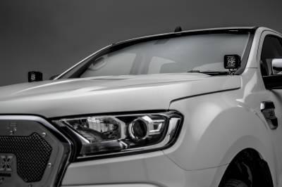 2015-2018 Ford Ranger T6 Hood Hinge LED Bracket to mount (2) 3 Inch LED Pod Lights - PN #Z365761 - Image 5