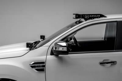 2015-2018 Ford Ranger T6 Hood Hinge LED Bracket to mount (2) 3 Inch LED Pod Lights - PN #Z365761 - Image 7