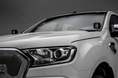 ZROADZ                                             - 2015-2018 Ford Ranger T6 Hood Hinge LED Kit with (2) 3 Inch LED Pod Lights - PN #Z365761-KIT2 - Image 4