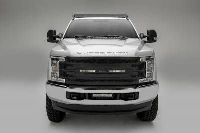 ZROADZ                                             - 2017-2019 Ford Super Duty Front Bumper Center LED Kit with (1) 12 Inch LED Straight Double Row Light Bar - PN #Z325471-KIT - Image 6