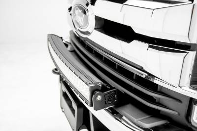 2017-2019 Ford Super Duty Front Bumper Top LED Kit, Incl. (1) 30 Inch LED Curved Double Row Light Bar - PN #Z325472-KIT - Image 2