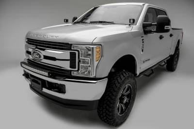 2017-2019 Ford Super Duty Front Bumper Top LED Kit, Incl. (1) 30 Inch LED Curved Double Row Light Bar - PN #Z325472-KIT - Image 3