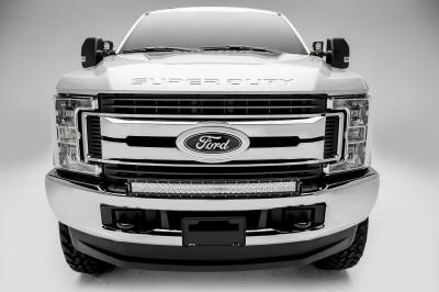 2017-2019 Ford Super Duty Front Bumper Top LED Kit, Incl. (1) 30 Inch LED Curved Double Row Light Bar - PN #Z325472-KIT - Image 4