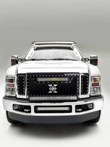 2008-2010 Ford Super Duty Front Bumper Center LED Kit, Incl. (1) 20 Inch LED Straight Double Row Light Bar - PN #Z325632-KIT - Image 1