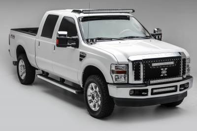 2008-2010 Ford Super Duty Front Bumper Center LED Kit, Incl. (1) 20 Inch LED Straight Double Row Light Bar - PN #Z325632-KIT - Image 2