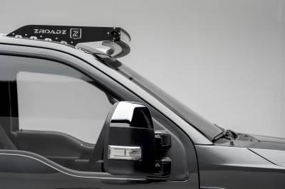 ZROADZ                                             - 2017-2021 Ford Super Duty Front Roof LED Bracket to mount (1) 52 Inch Curved LED Light Bar - PN #Z335471 - Image 2