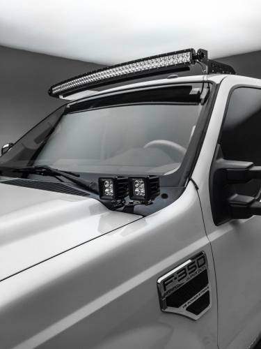 ZROADZ                                             - 2011-2016 Ford Super Duty Hood Hinge LED Bracket to mount (4) 3 Inch LED Pod Lights - PN #Z365462 - Image 1