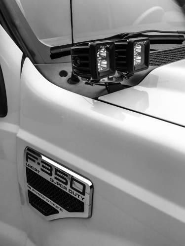 ZROADZ                                             - 2011-2016 Ford Super Duty Hood Hinge LED Bracket to mount (4) 3 Inch LED Pod Lights - PN #Z365462 - Image 2