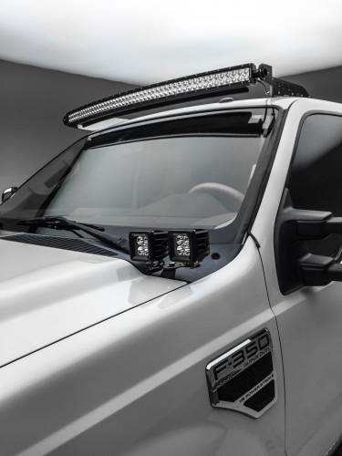 ZROADZ                                             - 2008-2010 Ford Super Duty Hood Hinge LED Kit, Incl. (4) 3 Inch LED Pod Lights - PN #Z365631-KIT4 - Image 1