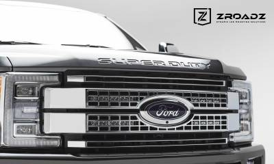 ZROADZ                                             - 2017-2019 Ford Super Duty Platinum OEM Grille LED Kit, Incl. (2) 10 Inch LED Single Row Slim Light Bar - PN #Z415371-KIT - Image 4