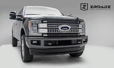 ZROADZ                                             - 2017-2019 Ford Super Duty Platinum OEM Grille LED Kit, Incl. (2) 10 Inch LED Single Row Slim Light Bar - PN #Z415371-KIT - Image 5