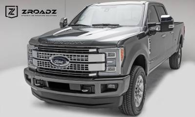 ZROADZ                                             - 2017-2019 Ford Super Duty Platinum OEM Grille LED Kit, Incl. (2) 10 Inch LED Single Row Slim Light Bar - PN #Z415371-KIT - Image 6