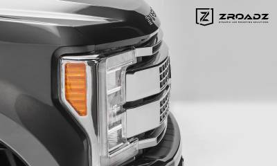 ZROADZ                                             - 2017-2019 Ford Super Duty Platinum OEM Grille LED Kit, Incl. (2) 10 Inch LED Single Row Slim Light Bar - PN #Z415371-KIT - Image 7